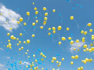 Gele ballonnen