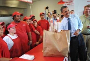 """Barack Obama, surpreende funcionários da lanchonete """"Five Guys"""""""