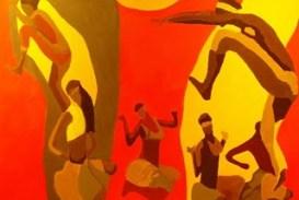 Oficina de ritmos afro-brasileiros com instrumentos reciclados no projeto Integração Afro-Sul Mirim em Dança II
