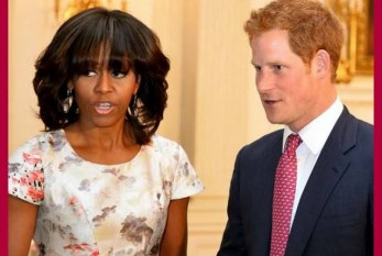 Michelle Obama recebe Príncipe Harry na Casa Branca