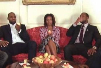 Michele Obama mostra para Miami Heat quem manda na Casa Branca: Let's Move