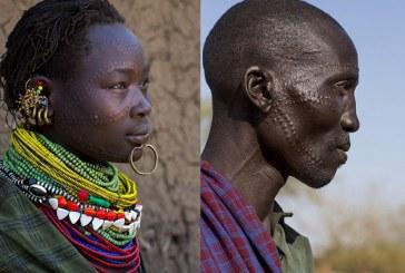 Quase tatuagem: na África, as pessoas fazem arte na própria pele
