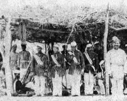 Assim como Hipólito Ribeiro, muitos negros participaram da Guerra do Paraguai. Acima, a guarda do Marquês de Caxias