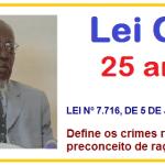 Lei nº 7.716/89 – Lei CAÓ, 25 anos no Combate ao Racismo