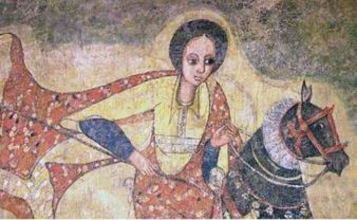 Queen Yodit Gudit was a legendary, non-Christian Queen (flourished c.960) who laid waste to Axum and its countryside, destroyed churches and monuments, and attempted to exterminate the members of the ruling Axumite dynasty. Her deeds are recorded in the oral tradition and mentioned incidentally in various historical accounts.She is a descendant of the Falashas of Ethiopia.