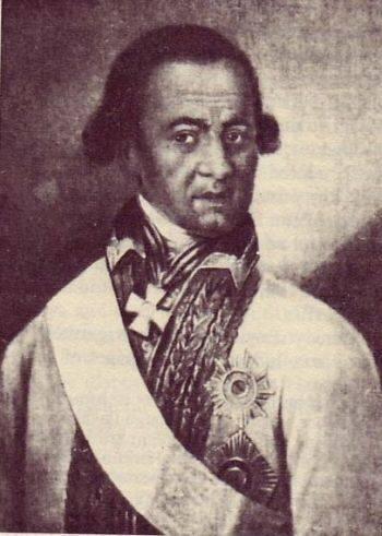ABRAM PETROVICH HANNIBAL. Adotado filho de escravos Africano que se tornou o afilhado de Pedro, o Grande, um comandante militar decorado, um engenheiro, eo bisavô de Alexander Pushkin.