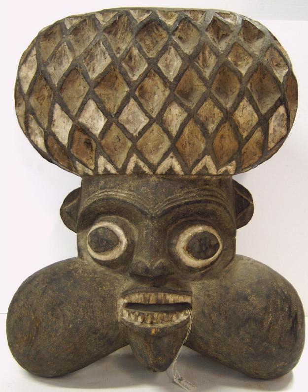 Máscara da etnia Bafun, pertencente à coleção do museu etnológico de Berlim.