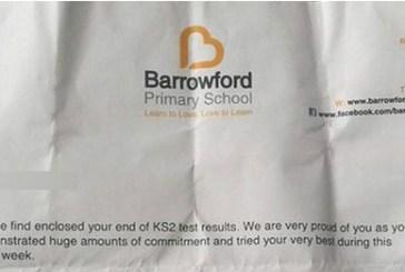 Escola na Inglaterra manda carta a alunos