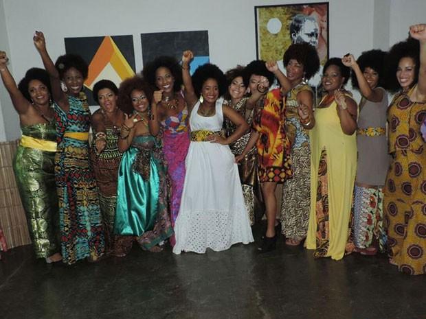 Candidatas do concurso de black power no Rio de Janeiro; baiana venceu (Foto: Carla Oliveira/Divulgação)