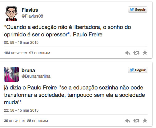 Após Faixa Pedir Um Basta De Paulo Freire Onu Divulga Mensagem