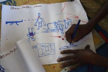 Terror do Boko Haram é descrito pelas crianças em desenhos