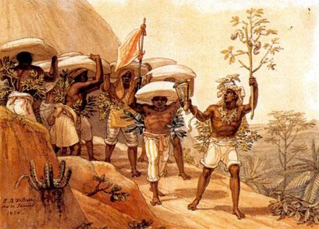 Quadros do pintor J. B. Debret retratam a vida dos trabalhadores escravos no Brasil antes de 1888