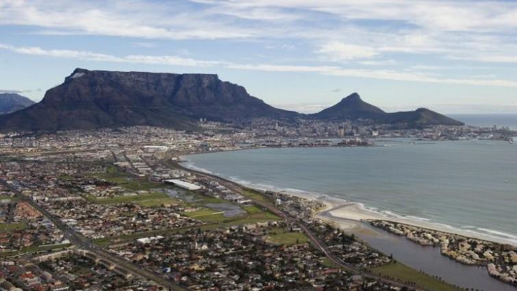 Vista da Cidade do Cabo, onde o navio naufragou