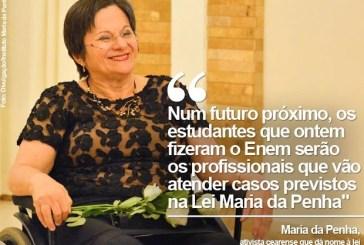 Redação do Enem 2015 'plantou uma semente', diz Maria da Penha