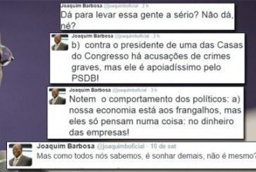 Joaquim Barbosa detona a hipocrisia do PSDB