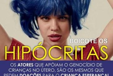 Grupos religiosos anunciam boicote a atores que protagonizaram vídeo em defesa do aborto