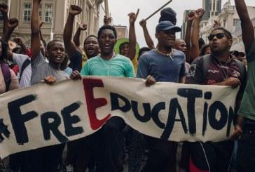 Sul-africanos protestam contra desigualdade na educação