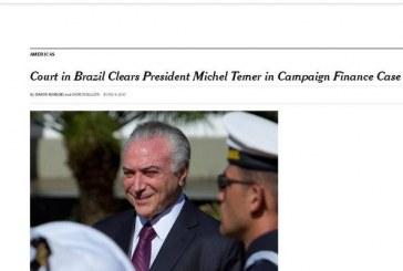 Mídia internacional repercute denúncia contra Michel Temer