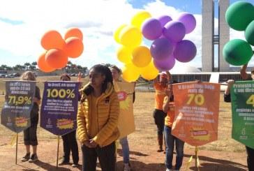 Anistia Internacional protesta, no DF, contra 'retrocessos' aos direitos humanos