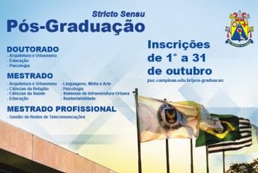 Inscrições abertas para os Programas de Pós-Graduação Stricto Sensu