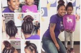 Professora copia penteado de aluna para encorajar sua autoestima