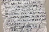 Aluno de mestrado encontra novo bilhete racista em mural da Universidade Federal do Ceará