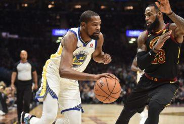 Monstruoso, Durant carrega os Warriors, e equipe fica a uma vitória do título da NBA