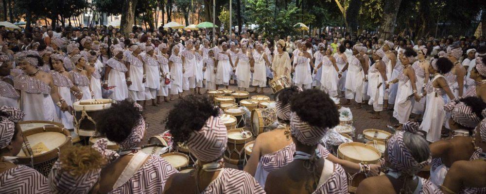 Concentração do bloco Ilú Obá de Min, em 2018 Eduardo Knapp:Folhapress