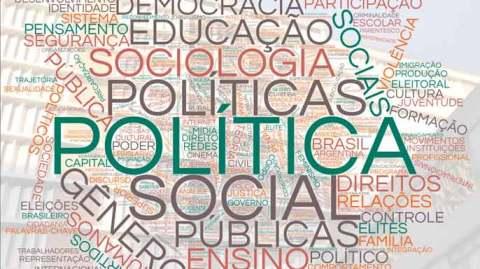 Imagem com diversas palavras relacionadas a sociologia, como: politica, gênero, educação, sociologia, entre outros