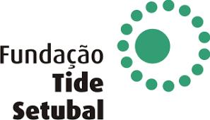 Logo da Fundação Tide Setubal, o nome da fundação e um circulo com varias circunferências na cor verde