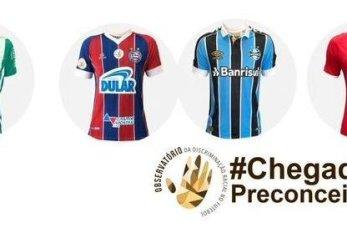 Camisas de clubes brasileiros serão leiloadas e recursos será aplicado contra o racismo