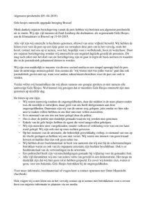 Algemeen Persbericht(05-04-2019)