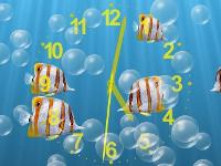 Underwater clock screensavers and 3D bubbles screensaver