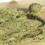 Neues vom grünen Laceschal und tolle Häkelbücher