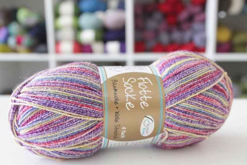 Sockenwolle mit Baumwolle