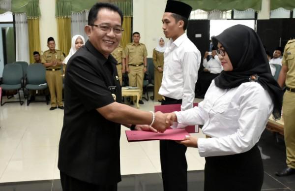 496 Orang CPNS Tahun 2018 Menerima Petikan Keputusan Bupati Tasikmalaya