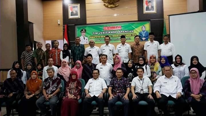 Bupati Tasikmalaya Menerima Tim Verifikasi Lapangan Kabupaten/Kota Sehat Tingkat Pusat Tahun 2019