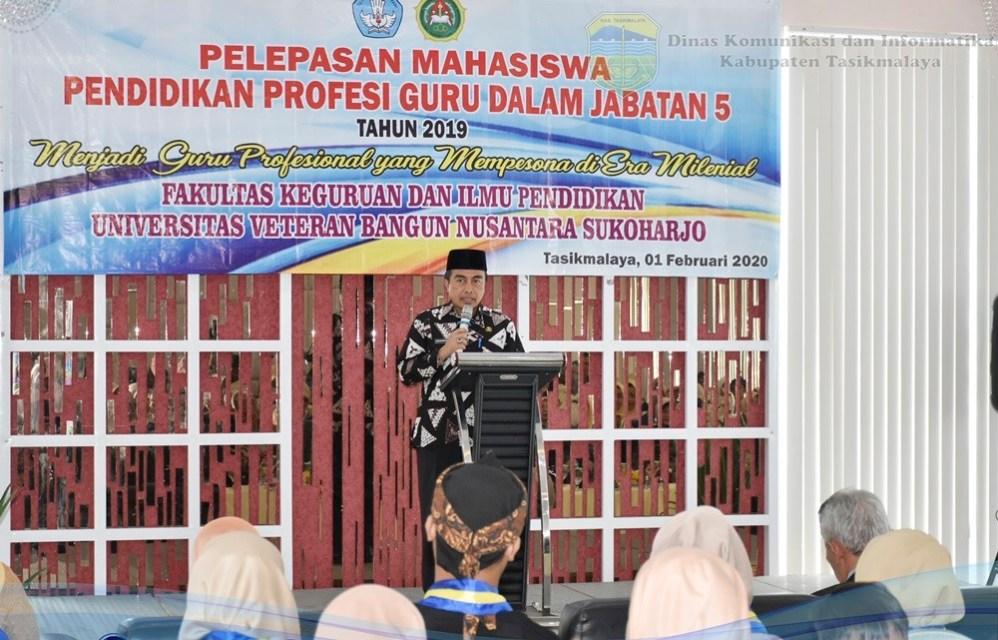 Sekda Kab. Tasikmalaya Hadiri Pelepasan Mahasiswa Pendidikan Profesi Guru dalam Jabatan 5 tahun 2019