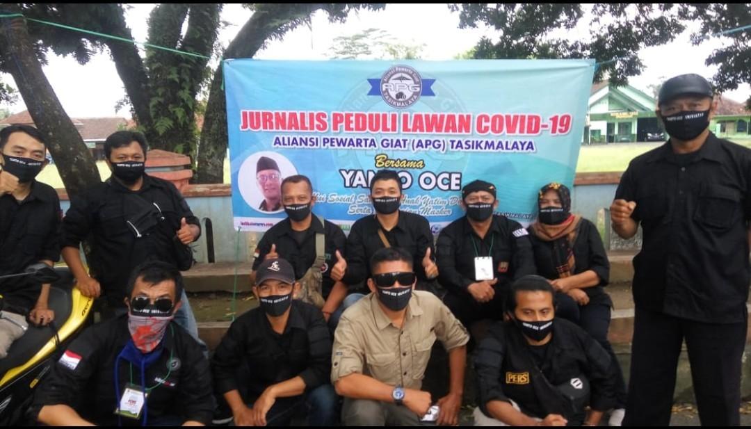 Gabungan Wartawan di Tasikmalaya Gelar Roadshow Baksos ke Panti Asuhan dan Jompo