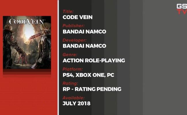 Rumor Code Vein Launches In July Update Gematsu
