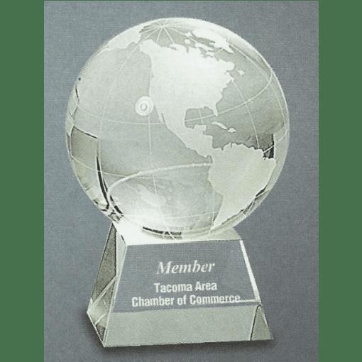 Glass Globe Trophy