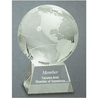 Glass Globe Trophy