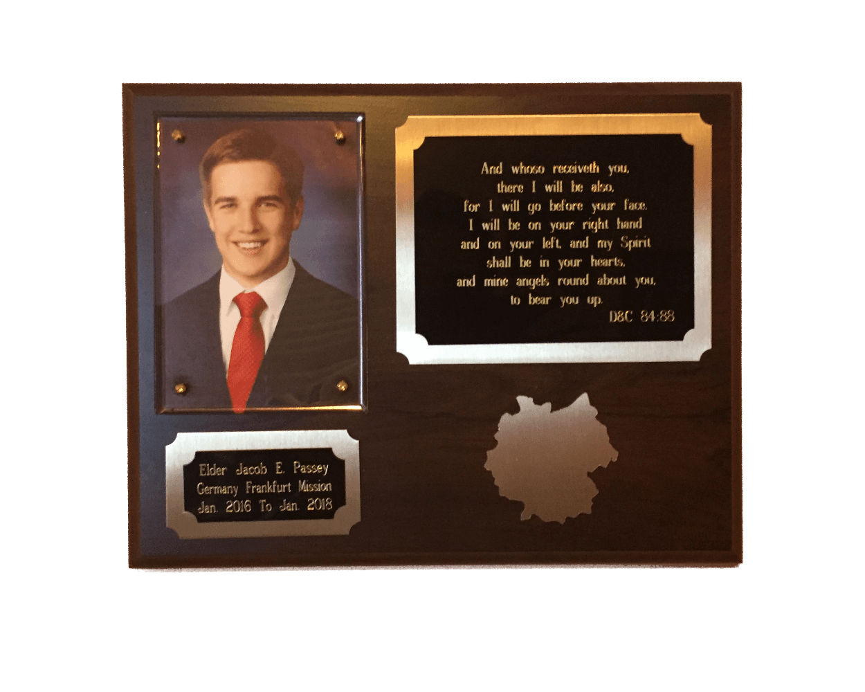 graphic regarding Future Missionary Tag Printable titled Diamond Engraved Missionary Plaque Gem Awards