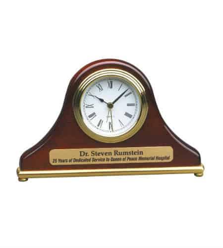 Engraved Mantle Clocks