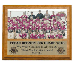 Oak Team Photo Plaque