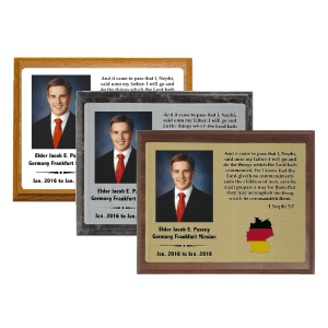 Full Color Missionary Plaque