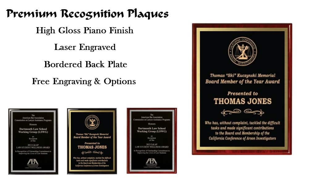 High Gloss Piano Finish Plaques | Recognition Plaques