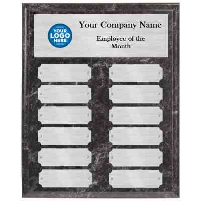 Black Marble Employee of the Month Perpetual Plaque