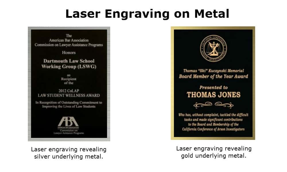 Laser engraving on metal