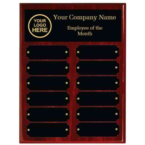 Red Piano Finish Employee of the Month Perpetual Plaque